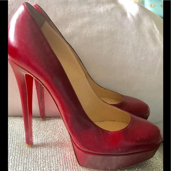 ea014899f0b06 60% off Christian Louboutin Shoes - CHRISTIAN LOUBOUTIN Red Heels Size 8  1 2 from Bettina s closet on Poshmark
